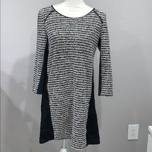 Anthropologie Maeve Black and White Tweed Dress